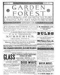 Garden and Forest Volume 2 Issue 82 Sept... by Charles S. Sargent