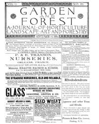 Garden and Forest Volume 2 Issue 83 Sept... by Charles S. Sargent