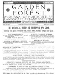 Garden and Forest Volume 2 Issue 85 Octo... by Charles S. Sargent