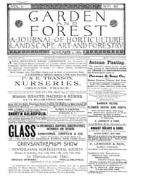 Garden and Forest Volume 2 Issue 89 Nove... by Charles S. Sargent
