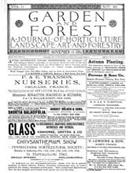 Garden and Forest Volume 2 Issue 90 Nove... by Charles S. Sargent