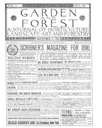 Garden and Forest Volume 2 Issue 92 Nove... by Charles S. Sargent