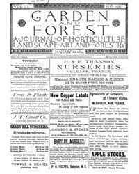 Garden and Forest Volume 3 Issue 100 Jan... by Charles S. Sargent
