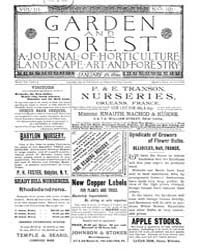Garden and Forest Volume 3 Issue 101 Jan... by Charles S. Sargent