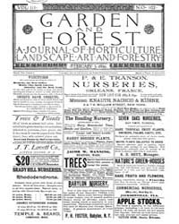 Garden and Forest Volume 3 Issue 102 Feb... by Charles S. Sargent