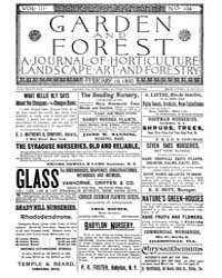 Garden and Forest Volume 3 Issue 104 Feb... by Charles S. Sargent