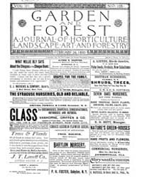 Garden and Forest Volume 3 Issue 105 Feb... by Charles S. Sargent