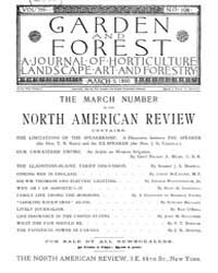 Garden and Forest Volume 3 Issue 106 Mar... by Charles S. Sargent