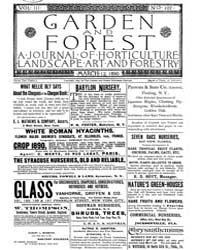 Garden and Forest Volume 3 Issue 107 Mar... by Charles S. Sargent