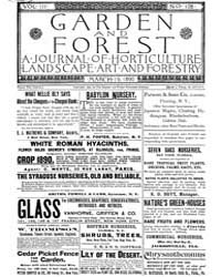 Garden and Forest Volume 3 Issue 108 Mar... by Charles S. Sargent