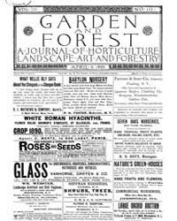 Garden and Forest Volume 3 Issue 111 Apr... by Charles S. Sargent