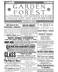 Garden and Forest Volume 3 Issue 112 Apr... by Charles S. Sargent