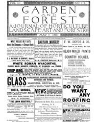 Garden and Forest Volume 3 Issue 115 May... by Charles S. Sargent