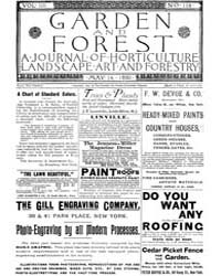 Garden and Forest Volume 3 Issue 116 May... by Charles S. Sargent