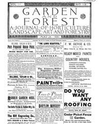 Garden and Forest Volume 3 Issue 118 May... by Charles S. Sargent