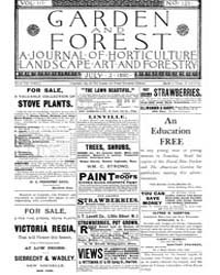 Garden and Forest Volume 3 Issue 123 Jul... by Charles S. Sargent