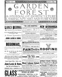 Garden and Forest Volume 3 Issue 126 Jul... by Charles S. Sargent