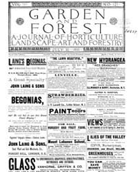 Garden and Forest Volume 3 Issue 127 Jul... by Charles S. Sargent
