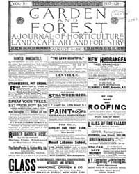 Garden and Forest Volume 3 Issue 128 Aug... by Charles S. Sargent