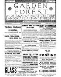 Garden and Forest Volume 3 Issue 130 Aug... by Charles S. Sargent