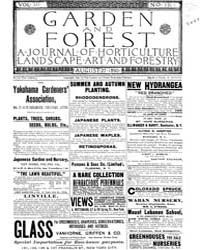 Garden and Forest Volume 3 Issue 131 Aug... by Charles S. Sargent