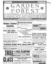 Garden and Forest Volume 3 Issue 134 Sep... by Charles S. Sargent
