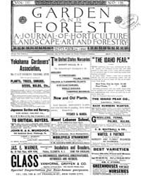 Garden and Forest Volume 3 Issue 135 Sep... by Charles S. Sargent