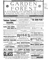 Garden and Forest Volume 3 Issue 137 Oct... by Charles S. Sargent