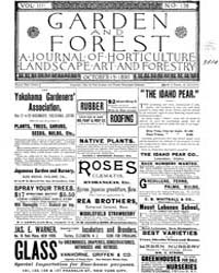 Garden and Forest Volume 3 Issue 138 Oct... by Charles S. Sargent