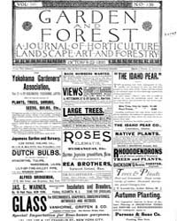 Garden and Forest Volume 3 Issue 139 Oct... by Charles S. Sargent