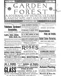 Garden and Forest Volume 3 Issue 140 Oct... by Charles S. Sargent