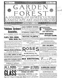 Garden and Forest Volume 3 Issue 141 Nov... by Charles S. Sargent