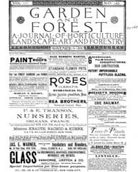 Garden and Forest Volume 3 Issue 143 Nov... by Charles S. Sargent