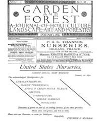 Garden and Forest Volume 3 Issue 97 Janu... by Charles S. Sargent