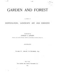 Garden and Forest Volume 4 Index by Charles S. Sargent