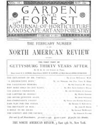 Garden and Forest Volume 4 Issue 154 Feb... by Charles S. Sargent