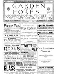 Garden and Forest Volume 4 Issue 155 Feb... by Charles S. Sargent
