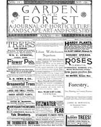 Garden and Forest Volume 4 Issue 159 Mar... by Charles S. Sargent