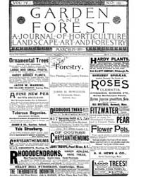 Garden and Forest Volume 4 Issue 161 Mar... by Charles S. Sargent