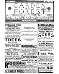 Garden and Forest Volume 4 Issue 163 Apr... by Charles S. Sargent
