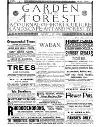 Garden and Forest Volume 4 Issue 164 Apr... by Charles S. Sargent