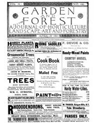 Garden and Forest Volume 4 Issue 166 Apr... by Charles S. Sargent