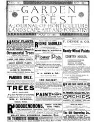 Garden and Forest Volume 4 Issue 168 May... by Charles S. Sargent