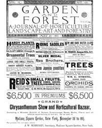 Garden and Forest Volume 4 Issue 169 May... by Charles S. Sargent