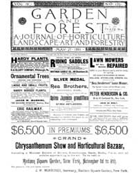 Garden and Forest Volume 4 Issue 170 May... by Charles S. Sargent