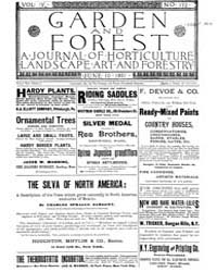 Garden and Forest Volume 4 Issue 172 Jun... by Charles S. Sargent