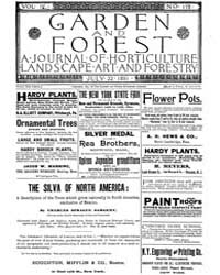 Garden and Forest Volume 4 Issue 178 Jul... by Charles S. Sargent