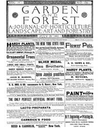 Garden and Forest Volume 4 Issue 179 Jul... by Charles S. Sargent