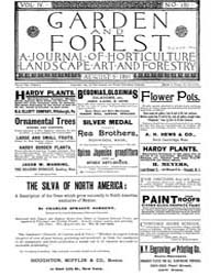 Garden and Forest Volume 4 Issue 180 Aug... by Charles S. Sargent