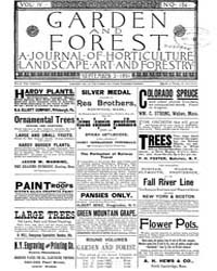 Garden and Forest Volume 4 Issue 184 Sep... by Charles S. Sargent